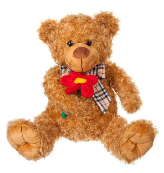 Мягкая игрушка Медведь коричневый с бантом (53 см)