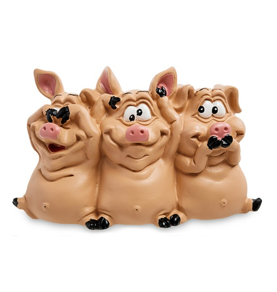 Статуэтка Трио мудрых свиней – фото № 1