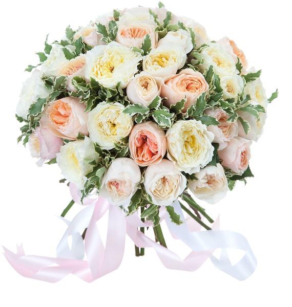 Букет из 31 английской розы David Austin цена