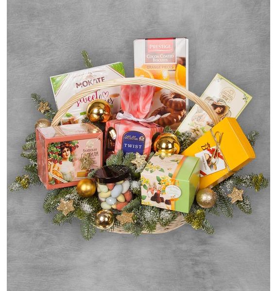 Фото - Подарочная корзина Счастливый Новый Год подарочная корзина осеннее танго