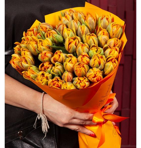 """Букет-соло """"Тюльпаны Orange Princess"""" (25,51,75 или 101) 5 hour energy orange 12 2oz"""
