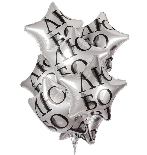 Букет шаров Любовь окрыляет (7 или 15 шаров) композиция из шаров букет