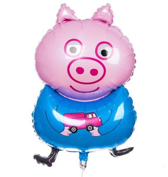 Воздушный шар Поросенок с игрушкой (79 см) воздушный шар поросенок с игрушкой 79 см