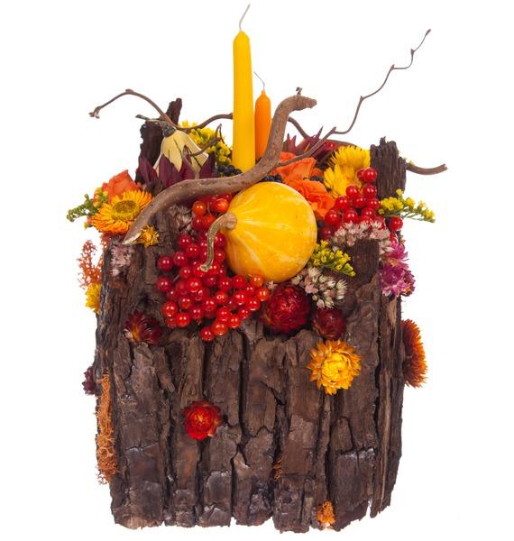 Подарочное кашпо Теплая осень – фото № 4
