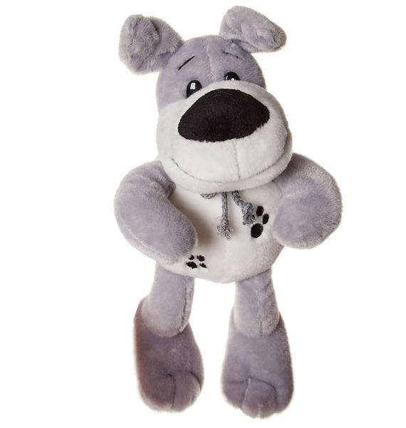 Мягкая игрушка Собачка с бантиком (29 см) мягкая игрушка собачка породы шпиц гиджет