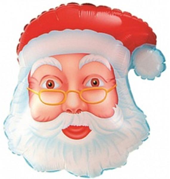Воздушный шар Дед Мороз (48 см) воздушный шар поросенок с игрушкой 79 см