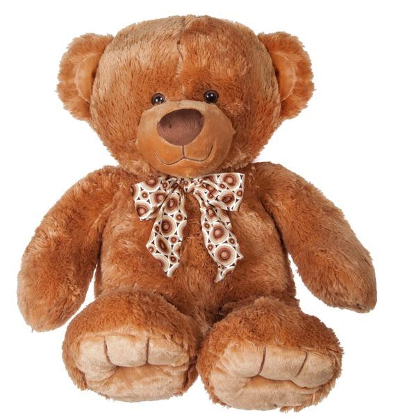 Мягкая игрушка Медведь Барни с бантом (65 см)