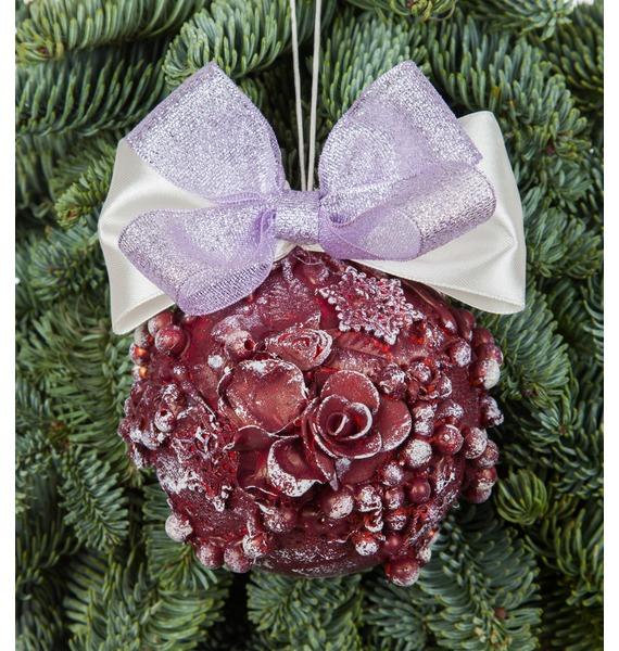 Новогодний шар ручной работы с открыткой (цвет бордо) arti m шар новогодний mattaniah 6х7 см