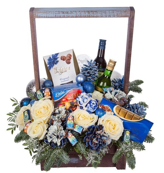 Подарочное кашпо Русская зима (Вино в подарок) – фото № 5