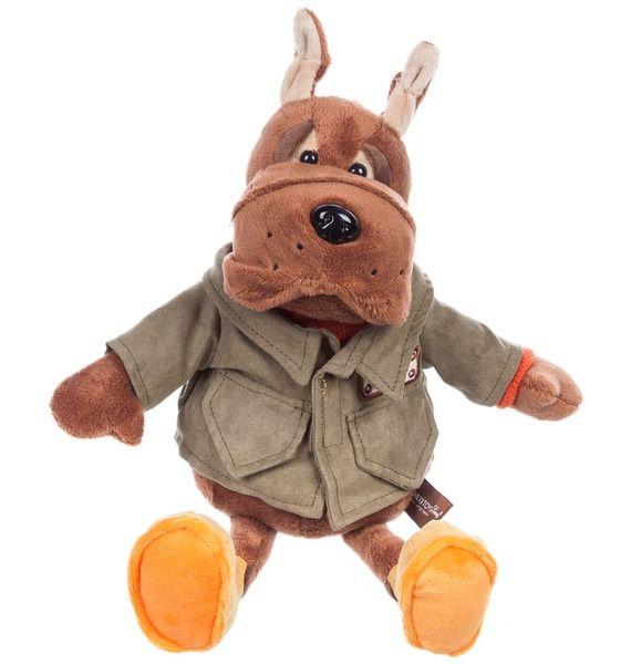 Мягкая игрушка Бульдог Рокки в куртке (28 см) мягкие игрушки maxitoys бульдог рокки в перчатках