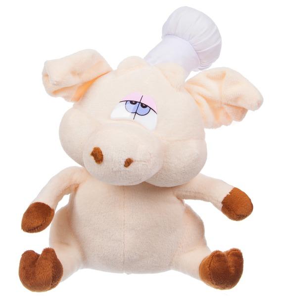 Фото - Мягкая игрушка Поросёнок Повар (19 см) мягкая игрушка мульти пульти 221606 221606
