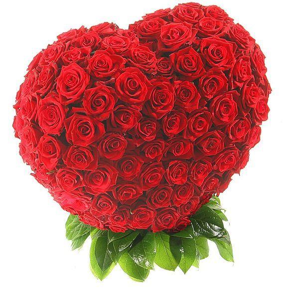 Композиция из 201 розы Мишень Купидона – фото № 3