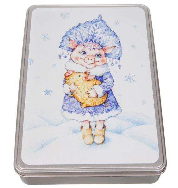 Новогоднее ассорти итальянских конфет Свинка-Снегурочка россия ёлочная игрушка снегурочка морозные узоры