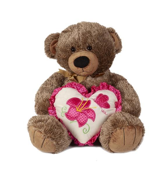 Мягкая игрушка Медведь с бантиком (50 см) мягкая игрушка нижегородская игрушка зоопарк с бантиком медведь 40 см