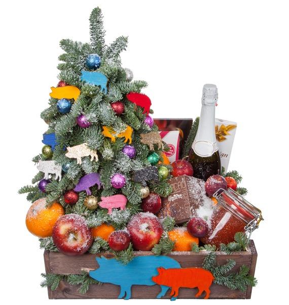 Подарочное кашпо Праздник души (Игристое вино в подарок) – фото № 5