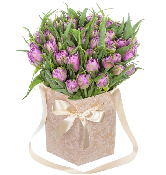 Пионовидные тюльпаны Double Price в вазе – фото № 1