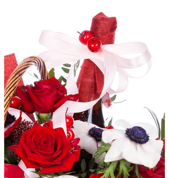 Подарочная корзина Вспышка чувств (Ликёр в подарок) – фото № 5