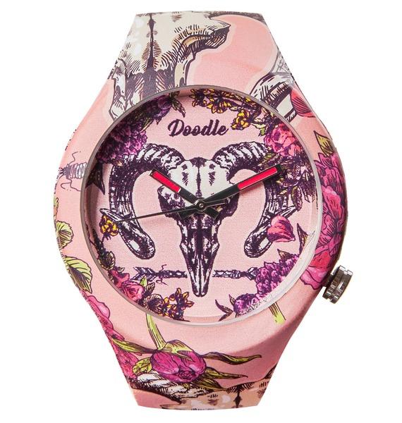 Часы Doodle Череп животного часы doodle белый череп
