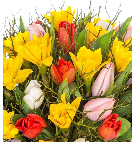 Композиция в вазе Улыбка весны – фото № 5