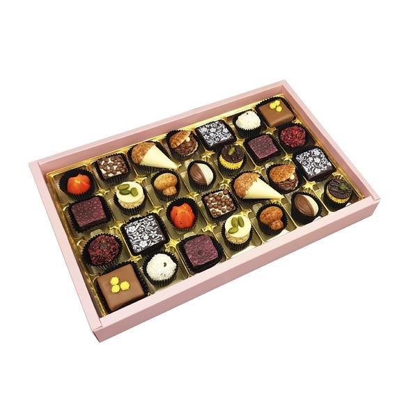 Конфеты ручной работы из бельгийского шоколада Флёранс merci набор конфет ассорти из шоколада с миндалем 250 г