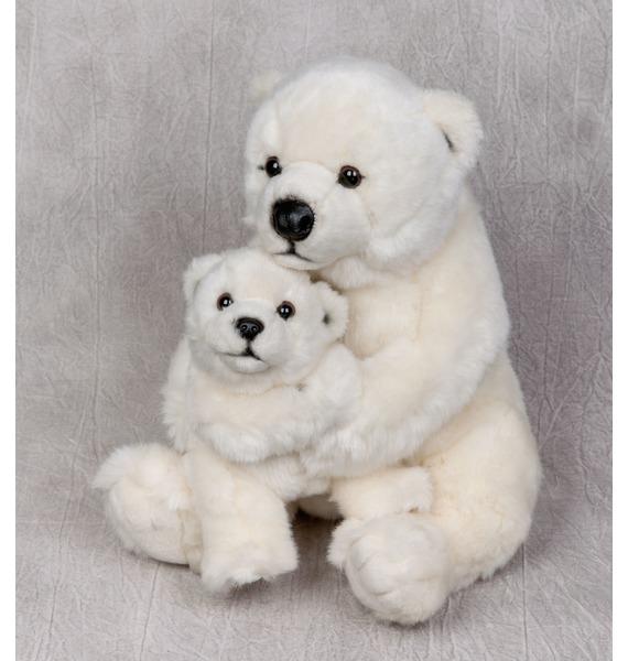 Мягкая игрушка Полярный медведь с медвежонком WWF (28 см) hansa мягкая игрушка медведь пилот 25 см