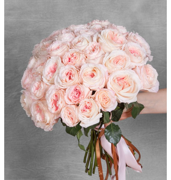 Bouquet of pion-shaped roses Mayras Bridal (15, 31 or 51) – photo #1