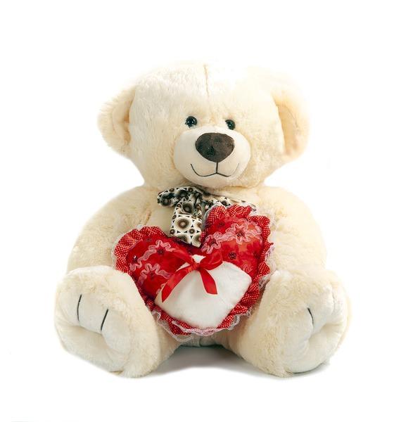 Мягкая игрушка Медведь Берн с сердцем (65 см) мягкая игрушка медведь артур 80 см