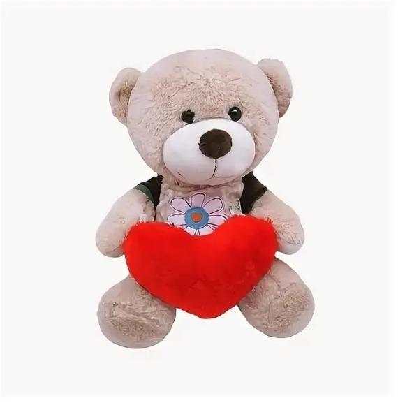 """Мягкая игрушка """"Мишка в футболке с сердцем"""" (28 см)"""
