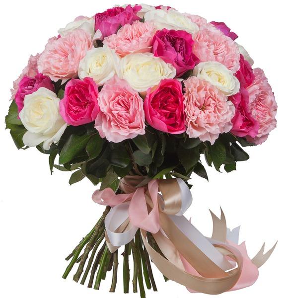 Букет из пионовидных роз Феерия (15, 25 или 51) – фото № 2
