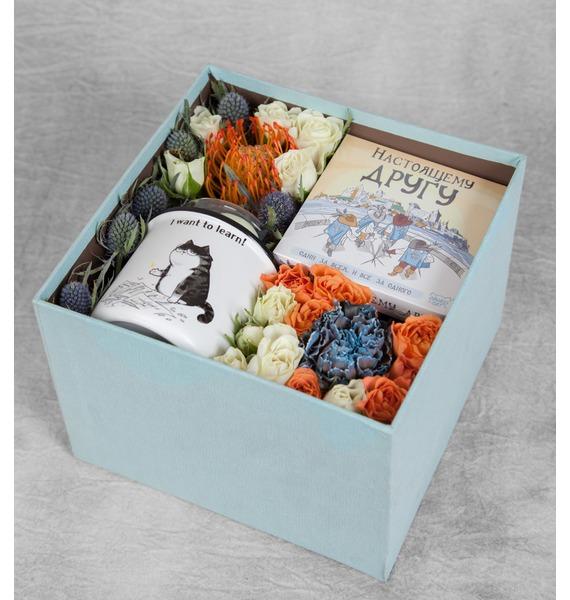 Подарочная коробка Лучший друг коробка подарочная совы на белом 19 12 5 8см картон kairui 13 kairui hz 907m