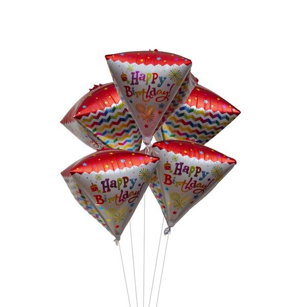 """Букет шаров """"С Днём Рождения"""" (5 или 11 шаров)"""