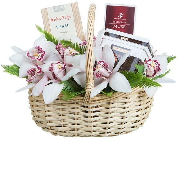 Подарочная корзина Дикая орхидея – фото № 2
