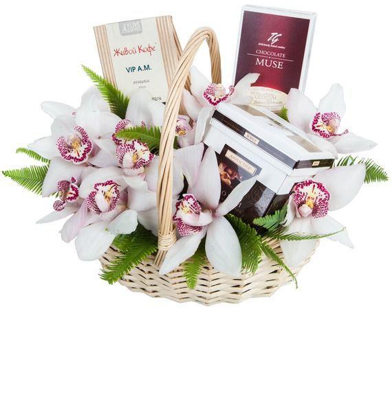 Подарочная корзина Дикая орхидея – фото № 1