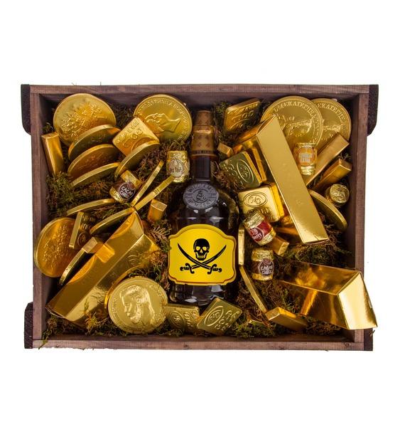 Подарочное кашпо Сокровище пиратов (Бренди в подарок) – фото № 3