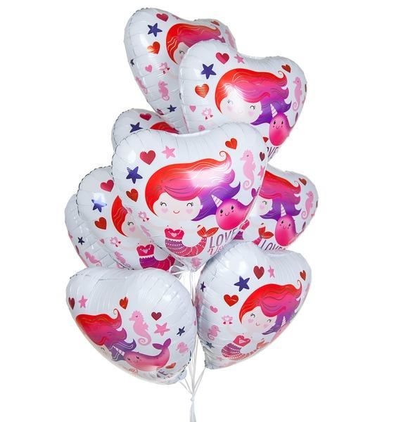 Фото - Букет шаров Люблю тебя! (9 или 18 шаров) букет шаров красные сердца 9 или 18 шаров