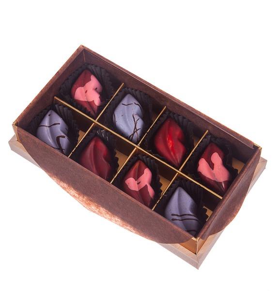 Конфеты ручной работы из бельгийского шоколада Аметист leather 8 – фото № 1