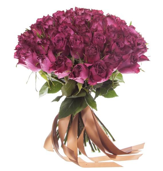 Букет из роз Blueberry (25,51 или 101 роза) – фото № 3