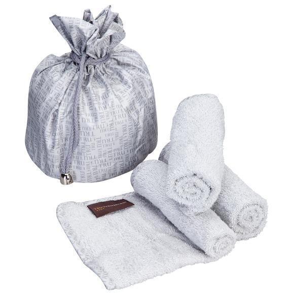Набор сумочка и 3 полотенца TRUSSARDI