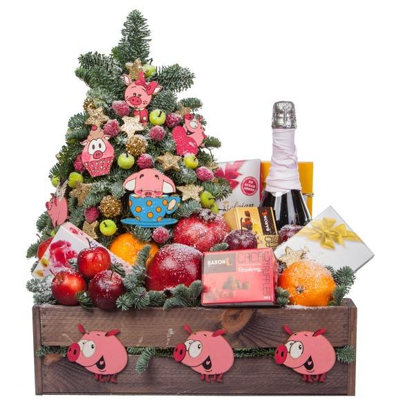 Подарочное кашпо Объедение (Игристое вино в подарок) – фото № 4