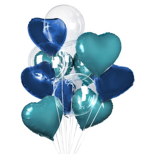 Букет шаров Морской бриз (11 или 21 шар) – фото № 1