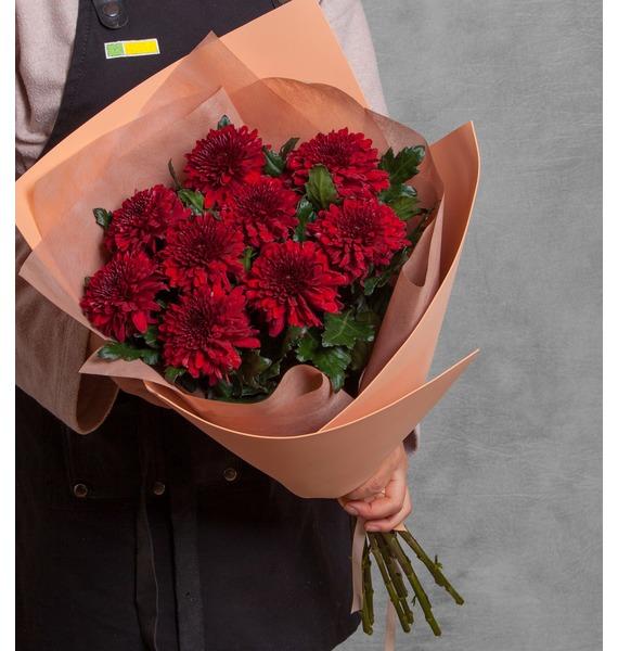"""все цены на Букет хризантем """"Поцелуй"""" (5, 9 или 15) онлайн"""