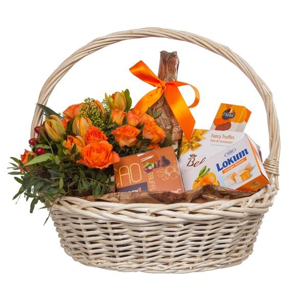 Подарочная корзина Оранжевый мир (Игристое вино в подарок) – фото № 4