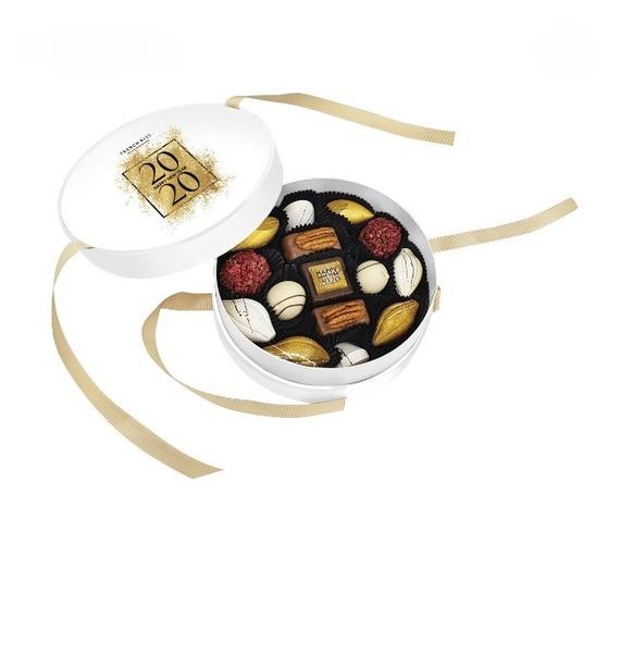 Конфеты ручной работы из бельгийского шоколада С Новым Годом merci набор конфет ассорти из шоколада с миндалем 250 г