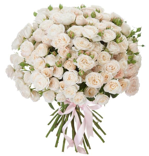 Букет из пионовидных кустовых роз Bombastic – фото № 1