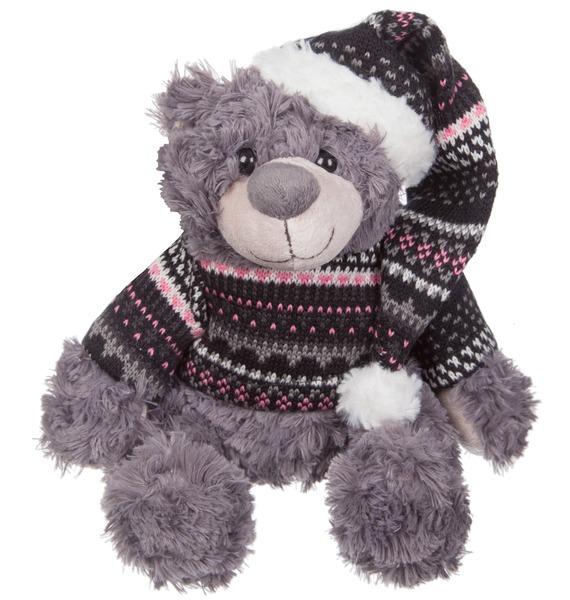 """Мягкая игрушка """"Мишка Кейн в шапке и свитере"""" (23 см)"""