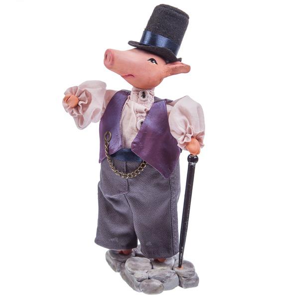 """Игрушка ручной работы """"Свин Джордж"""""""