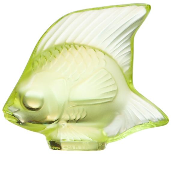 Хрустальная статуэтка Рыбка (св-желтый) (LALIQUE, Франция) – фото № 1