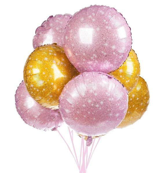 Букет шаров Искры (7 или 15 шаров) – фото № 1