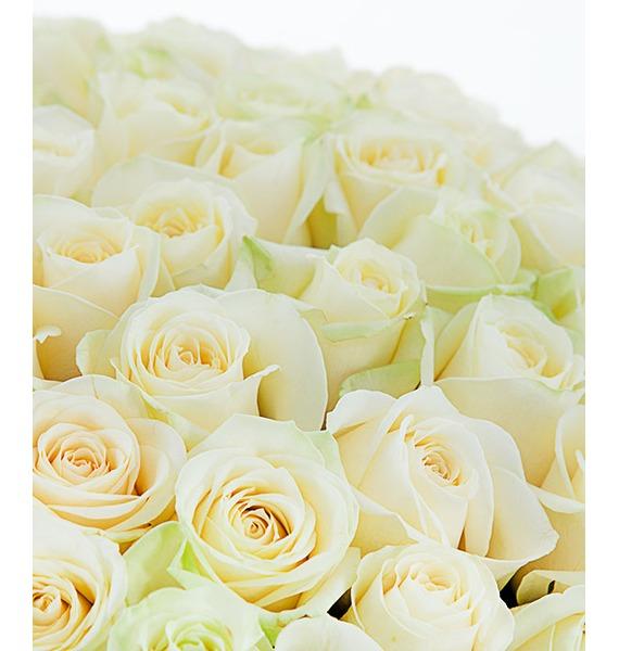 Букет из 101 белой розы Счастье – фото № 3