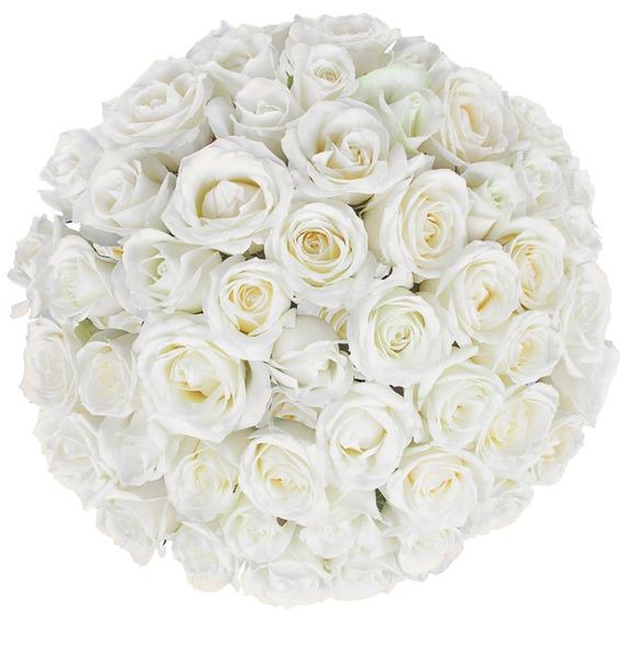Букет из белых роз (25, 51 или 75) – фото № 5